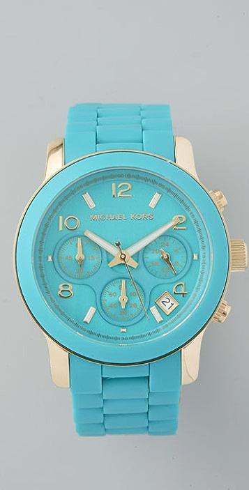 Michael Kors Tile Blue Watch