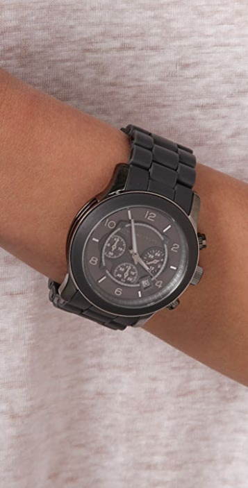Michael Kors Round Oversized All Black Watch