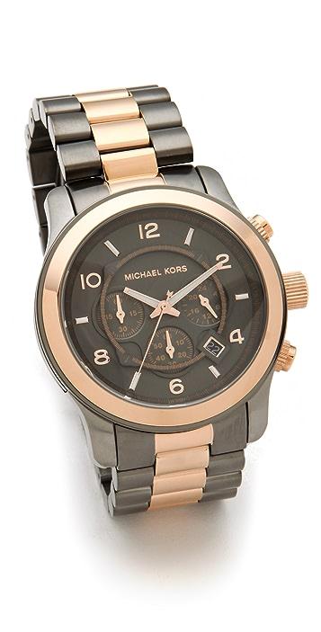 Michael Kors Runway Two-Tone Watch