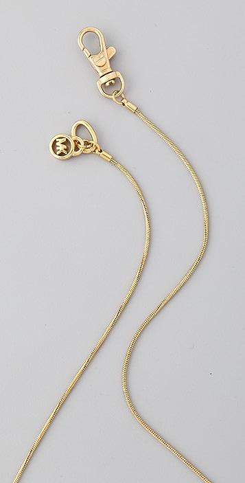 Michael Kors Jet Set Topaz Pendant Necklace
