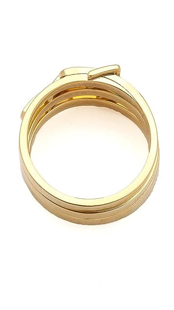 Michael Kors Skinny Buckle Ring Set