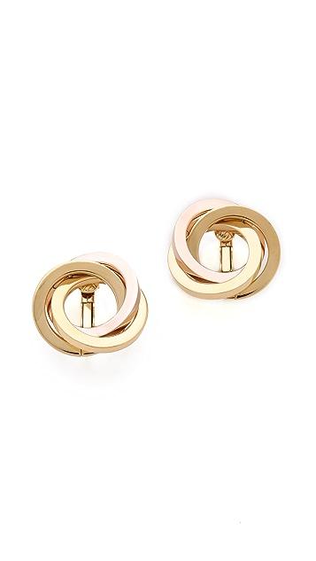 Michael Kors Knot Clip On Earrings