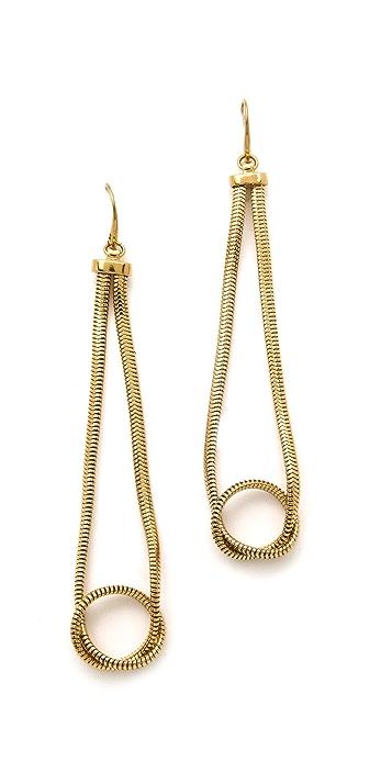 Michael Kors Snake Loop Earrings