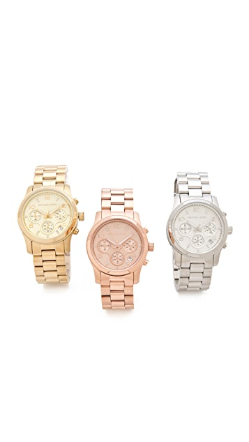 Michael Kors Runway Chronograph Watch Collector Box Set