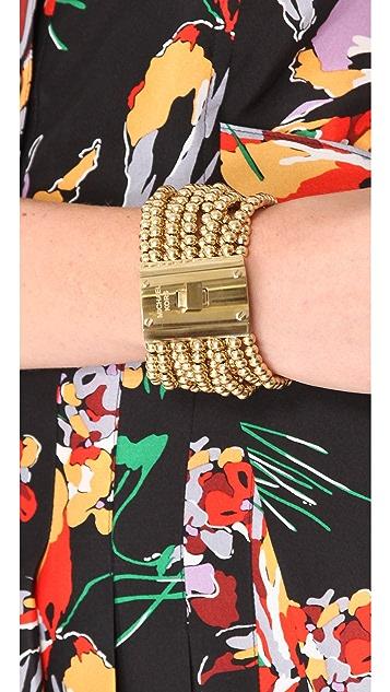 Michael Kors Bead Turn Lock Bracelet