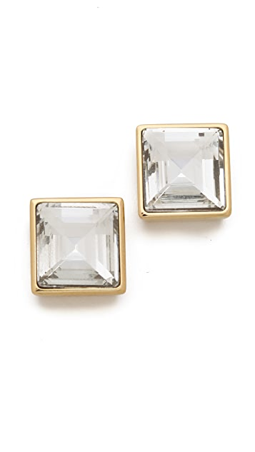 Michael Kors Crystal Square Studs