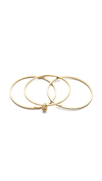 Michael Kors Buckle Bangle Set