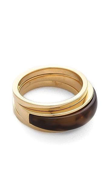 Michael Kors Tortoise Band Ring Set