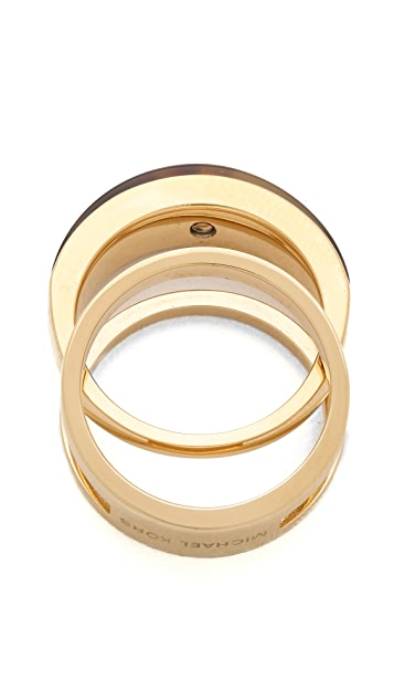 Michael Kors Tortoise Band Ring Set