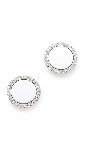 Michael Kors Pave Slice Stud Earrings