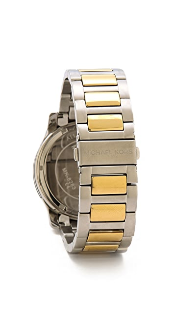 Michael Kors Oversized Two Tone Runway Watch