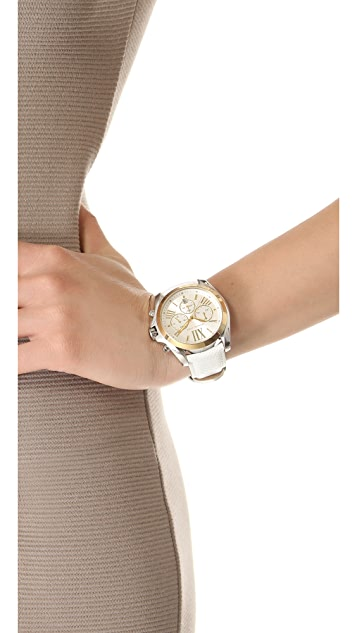 Michael Kors Leather Bradshaw Watch
