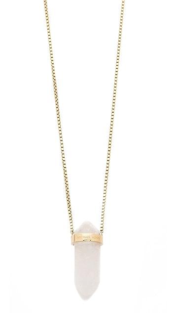 Michael Kors Seaside Luxe Geode Pendant Necklace