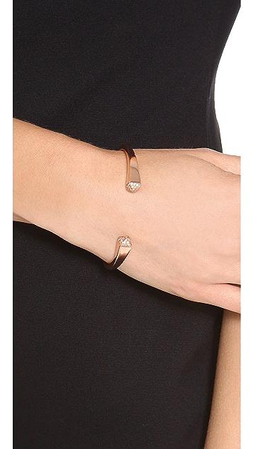 Michael Kors Pave Pyramid Reverse Cuff Bracelet