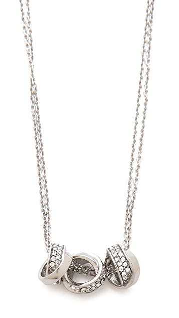 Michael Kors 3 Ring Double Chain Necklace