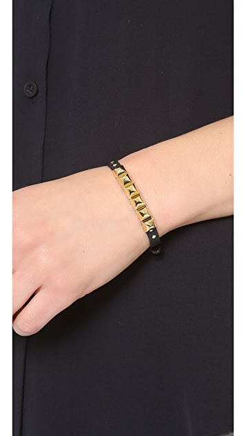 Michael Kors Saffiano Pyramid Bracelet