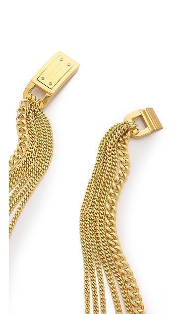 Michael Kors Multi Chain Plaque Necklace