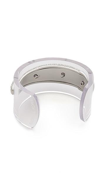 Michael Kors Pave Tusk Lucite Cuff Bracelet