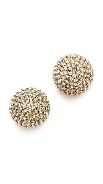 Michael Kors Pave Bead Stud Earrings