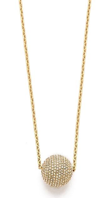 Michael Kors Pave Fireball Pendant Necklace