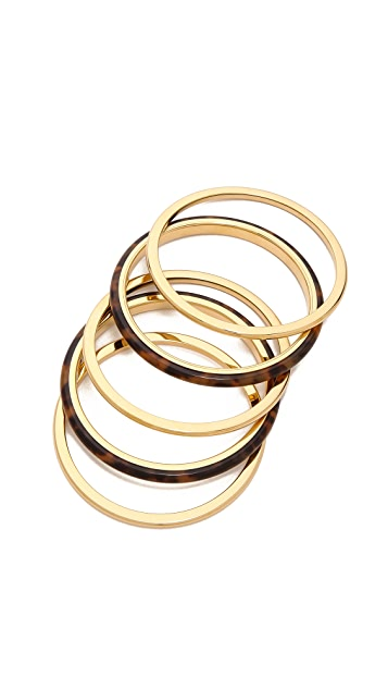 Michael Kors 5 Stack Bangle Bracelets