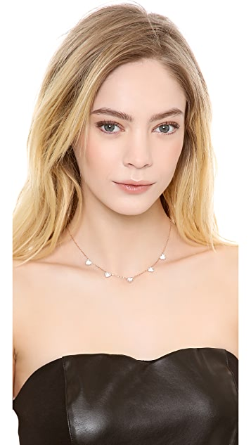 Michael Kors Pave Delicate Heart Necklace