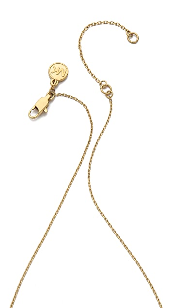 Michael Kors Pave Delicate Heart Necklace