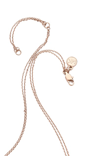 Michael Kors Pave Rings Pendant Necklace