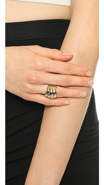Michael Kors Tri Tone Stack Ring