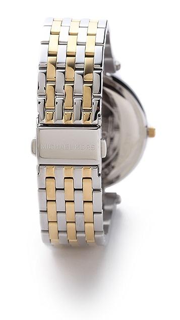Michael Kors Darci Pave Two Tone Watch