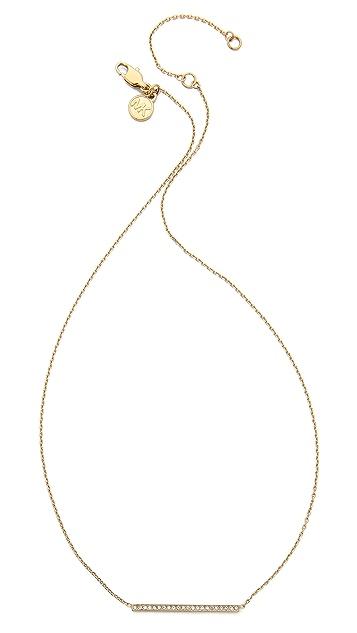 Michael Kors Pave Bar Pendant Necklace