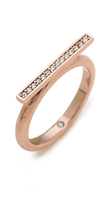 Michael Kors Pave Bar Ring