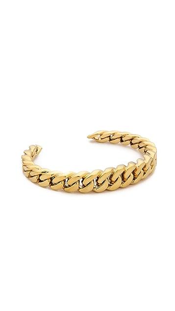 Michael Kors Graduated Frozen Curb Chain Cuff Bracelet