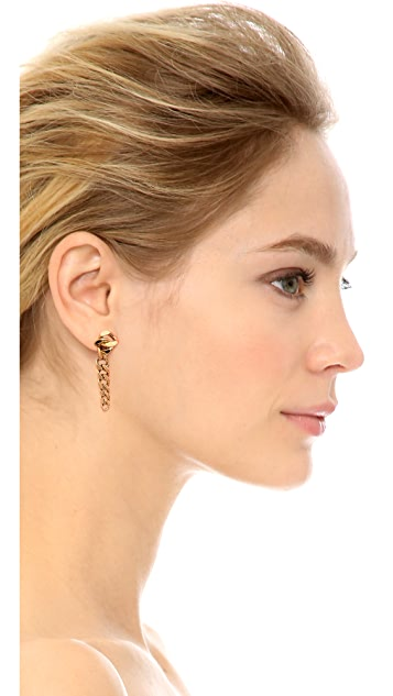 Michael Kors Graduated Curb Chain Post Earrings