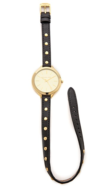 Michael Kors Studded Wrap Watch