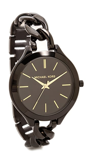 Michael Kors Midnight Safari Slim Runway Twist Watch