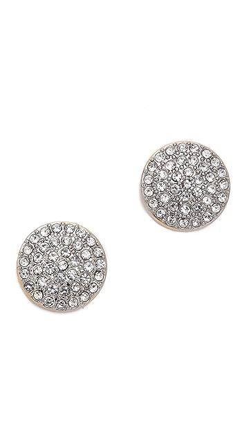 Michael Kors Pave Disc Post Earrings