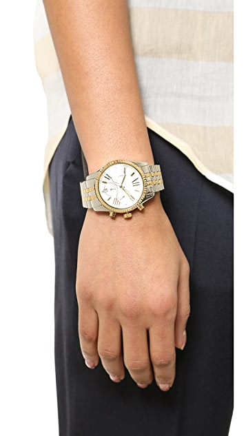 Michael Kors Two Tone Lexington Watch