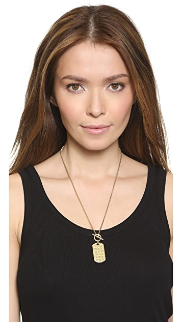 Michael Kors MK Monogram Dog Tag Necklace