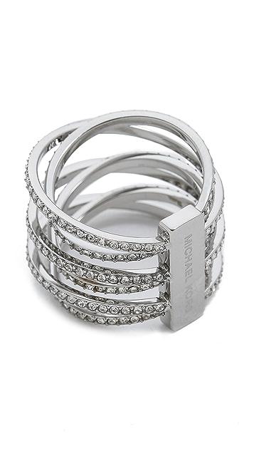 Michael Kors Pave Crisscross Ring