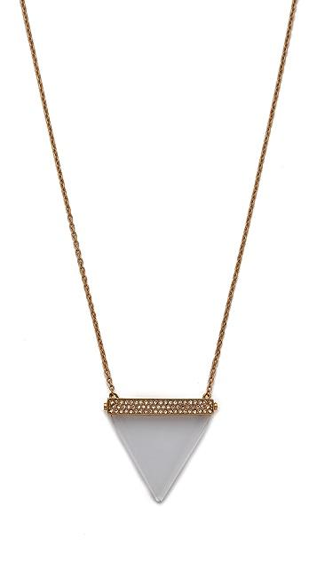 Michael Kors Pave Triangle Pendant Necklace