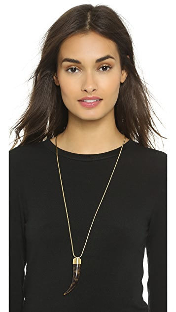 Michael Kors Tortoise Tusk Pendant Necklace