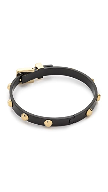 Michael Kors Two Tone Buckle Bangle Bracelet