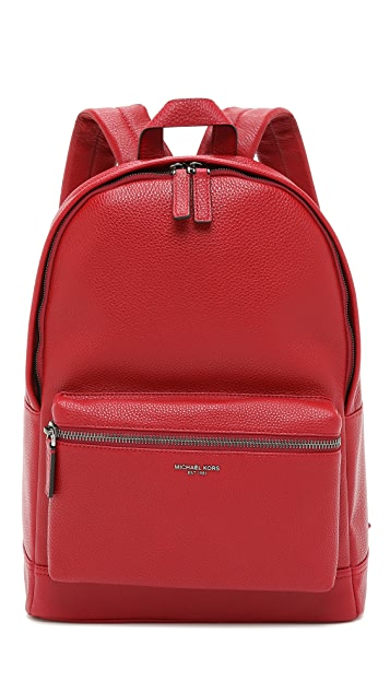1591d7fd37a2 Michael Kors Bryant Pebbled Leather Backpack ...