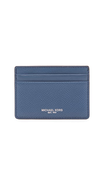 Michael Kors Harrison Leather Card Case