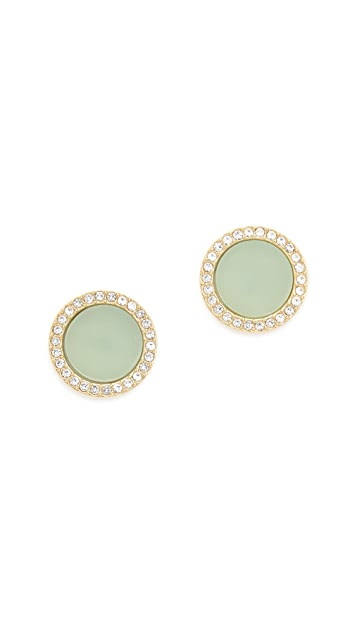 Michael Kors Disc Stud Earrings