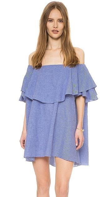 847c33c39e8c MLM LABEL Maison Off Shoulder Gingham Dress