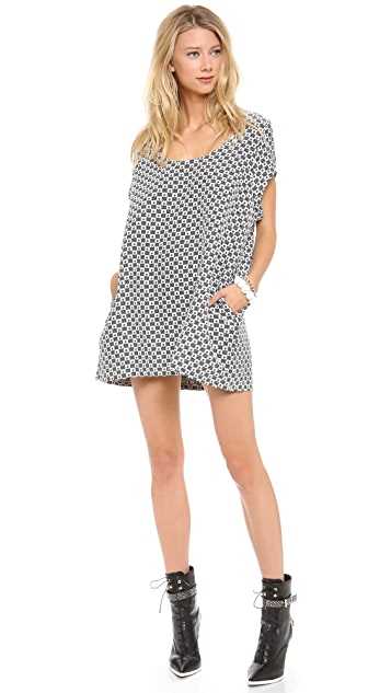 Margaux Lonnberg Jacquard Short Sleeve Dress
