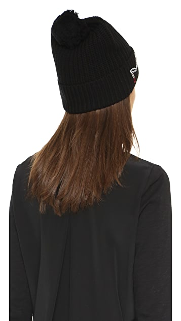 Markus Lupfer Fairy Lights Sequin Beanie Hat