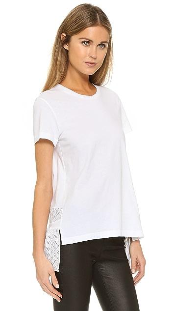 Markus Lupfer 刺绣 Anglais 背面裙型腰褶 T 恤